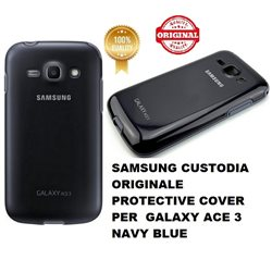 SAMSUNG CUSTODIA ORIGINALE PROTECTIVE COVER+ GALAXY ACE 3 NAVY BLUE