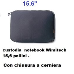 custodia in neoprene wimitech per notebook da 15,6 pollici