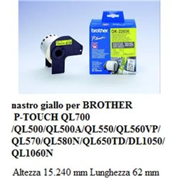 nastro giallo per BROTHER P-TOUCH QL 700