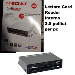 Lettore Card Reader Interno 3,5 pollici per pc