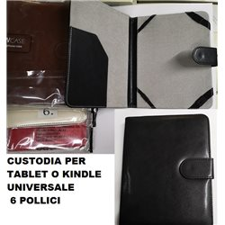 CUSTODIA PER TABLET E KINDLE UNIVERSALE 6 POLLICI