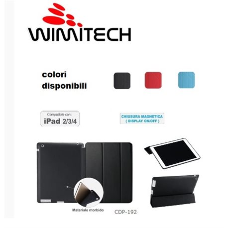 Custodia in ecopelle compatibile con iPad 2 ipad 3 ipad 4
