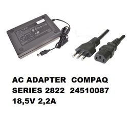 AC ADAPTER COMPAQ SERIES 2822 24510087 18,5V 2,2A