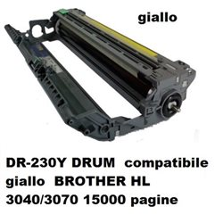 DR-230Y drum compatibile giallo BROTHER HL 3040/3070 15000 pagine