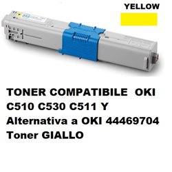 TONER COMPATIBILE OKI C510 C530 C511 Y Alternativa a OKI 44469704 Toner GIALLO