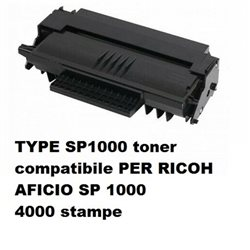 TYPE SP1000 toner compatibile PER RICOH AFICIO SP 1000 4000 stampe