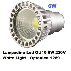 Lampadina Led GU10 6W 220V White Light , Optonica 1269