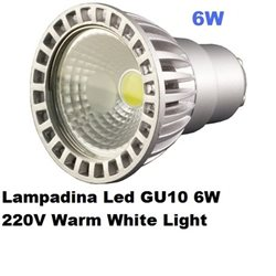 Lampadina Led GU10 6W 220V Warm White Light , Optonica 1271