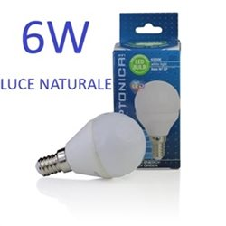 Lampadina Led E14 G45 6W 175-265V Neutral White Light , Optonica 1448