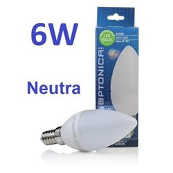 Lampadina Led E14 6W 220V Neutral White Light , Optonica 1461