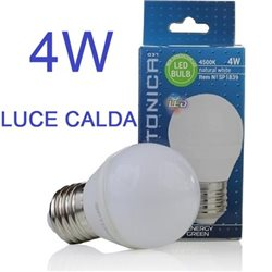 Lampadina Led bulbo E27 G45 4W 220V Warm White Light , Optonica 1840