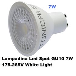 Lampadina Led Spot GU10 7W 175-265V White Light , Optonica 1932