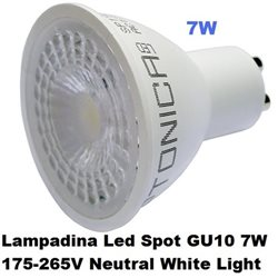 Lampadina Led Spot GU10 7W 175-265V Neutral White Light, Optonica 1933