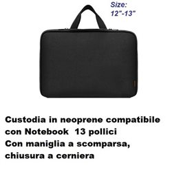 custodia in neoprene wimitech per notebook da 13-14 pollici