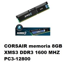 CORSAIR memoria 8GB XMS3 DDR3 1600 MHZ PC3-12800