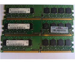 PC2-5300U-555-12-D0 - 3 pezzi di RAM PER PC 512MB CAD. HP PN 377725-888