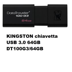 KINGSTON chiavetta USB 3.0 64GB DT100G3/64GB