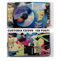 Custodia per CD/DVD 128 posti fantasia