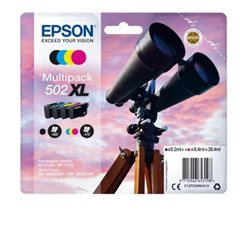 multipack epson 502XL BK/C/M/Y BINOCOLO, Expression Home XP-5105, XP-5100 WorkForce WF-2865DWF, WF-2860DWF