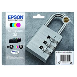 MULTIPACK EPSON 35 COLORI BK/C/M/Y 4 cartucce LUCCHETTO