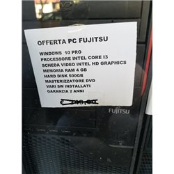 PC FUJITSU INTEL CORE I3 - 4 GB RAM 500 HD WINDOWS 10 PROF