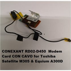 CONEXANT RD02-D450 Modem Card CON CAVO for Toshiba Satellite M305 & Equium A300D