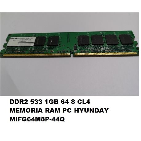 DDR2 533 1GB 64 8 CL4 MEMORIA RAM PC HYUNDAY MIFG64M8P-44Q
