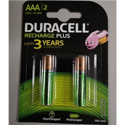 DURACELL BATTERIE RICARICABILI MINI STILO AAA STAY CHARGED 750 mAh