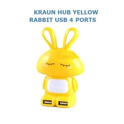 KRAUN HUB YELLOW RABBIT USB 2.0 4 PORTE