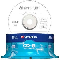 VERBATIM CD-R 80 Min/700 MB Extra Protection 25pz