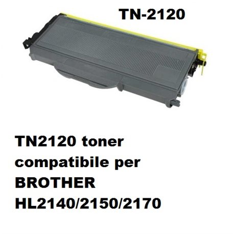 TN2120 toner compatibile per BROTHER HL2140/2150/2170