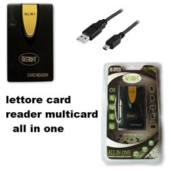St@rt Lettore Card ALL in 1 compatibile con ben venti tipi di supporti di memoria