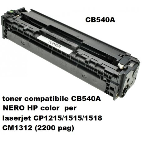 toner compatibile CB540A NERO HP color laserjet CP1215/1515/1518 CM1312 (2200 pag)