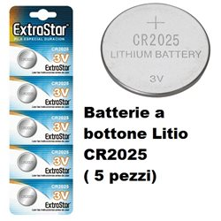 Batterie a bottone Litio CR2025 ( 5 pezzi)