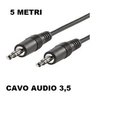 CAVO AUDIO JACK 3.5 M/M 5 MT