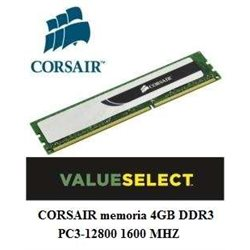CORSAIR memoria 4GB DDR3 PC3-12800 1600 MHZ