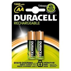 DURACELL BATTERIE RICARICABILI AA STAY CHARGED 1300 mAh