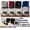 MP3 speaker bluetoot CON RADIO FM -SLOT MICRO SD WS-231BT