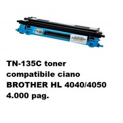 TN-135C toner compatibile ciano per BROTHER HL 4040/4050 4.000 pag.