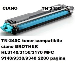 TN-245C toner compatibile ciano per BROTHER HL3140/3150/3170 MFC 9140/9330/9340 2200 pagine