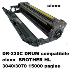 DR-230C drum compatibile ciano BROTHER HL 3040/3070 15000 pagine