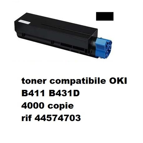 toner compatibile OKI NERO B411 B431D 4000 copie rif 44574703