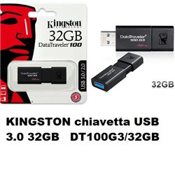 KINGSTON chiavetta USB 3.0 32GB DT100G3/32GB