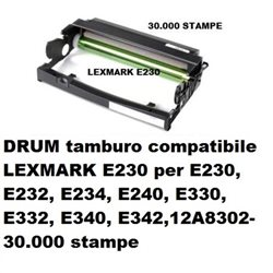 DRUM compatibile LEXMARK E230 per E230, E232, E234, E240, E330, E332, E340, E342,12A8302- 30.000 stampe