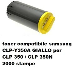 toner compatibile samsung CLP-Y350A GIALLO per CLP 350 / CLP 350N 2000 stampe