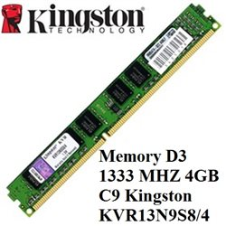 KINGSTON memoria D3 4GB DDR3 PC3-10600 1333MHZ C9