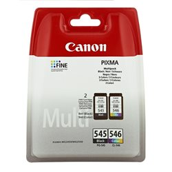 MULTIPACK inkjet canon PG-545 + CL-546 per Canon MG2450, MG2550, MG2950, MX495, iP2850