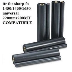 ttr for sharp fo 1450/1460/1650 universal 220mmx200MT COMPATIBILE