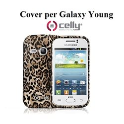 CELLY GALAXY YOUNG Cover marrone texture alimalier TPU