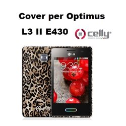 CELLY cover Optimus LG L3 II E430 marrone texture alimalier TPU